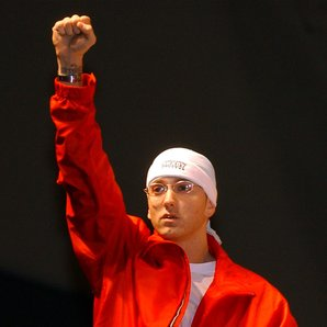 Eminem live on stage