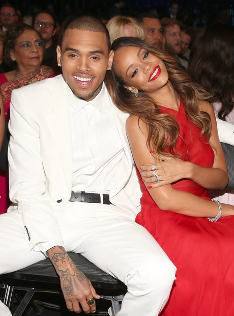 Rihanna and Chris Brown at the Grammy Awards 2013