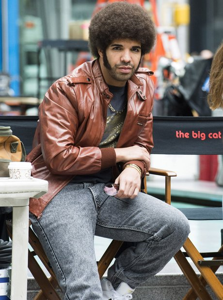 Drake while filming Anchorman
