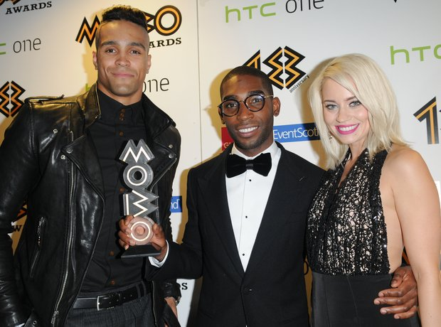 Tinie Tempah with Kimberley Wyatt at the Mobo Awards 2013