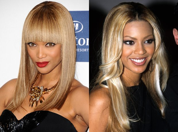 Tyra Banks and Beyonce lookalike