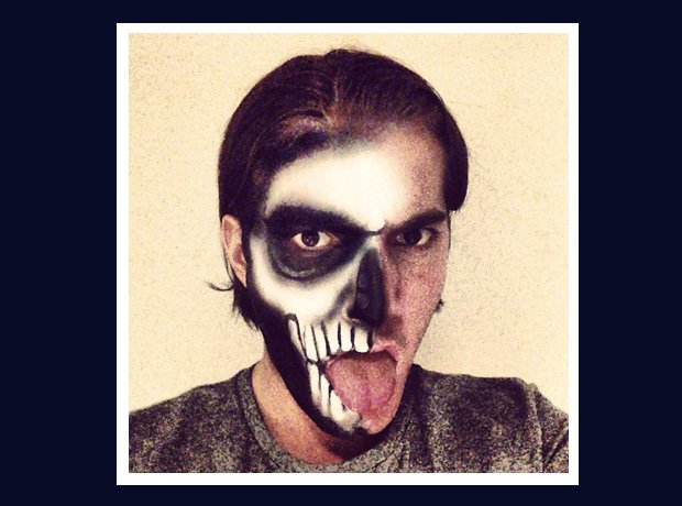 Alesso dressed as a monster for halloween