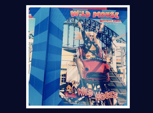 Iggy Azalea on a rollercoaster