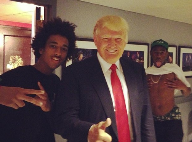 Tyler and Donald Trump Photobomb