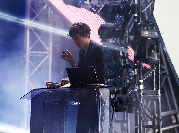 Madeon DJ'ing at Global gathering