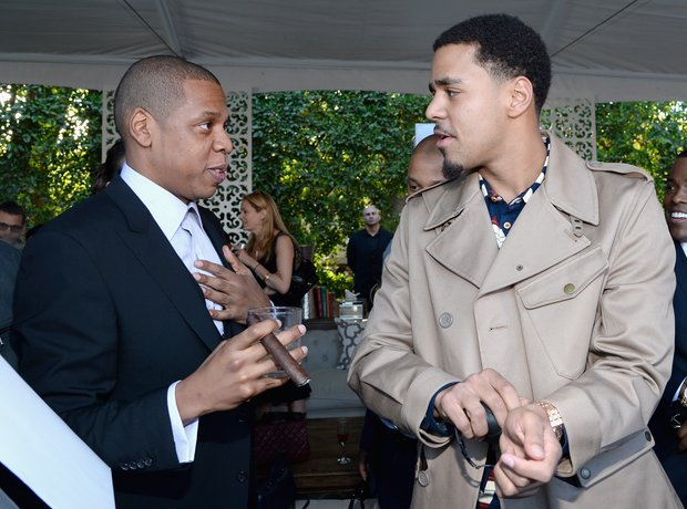 Jay Z J Cole Grammys pre party 2014