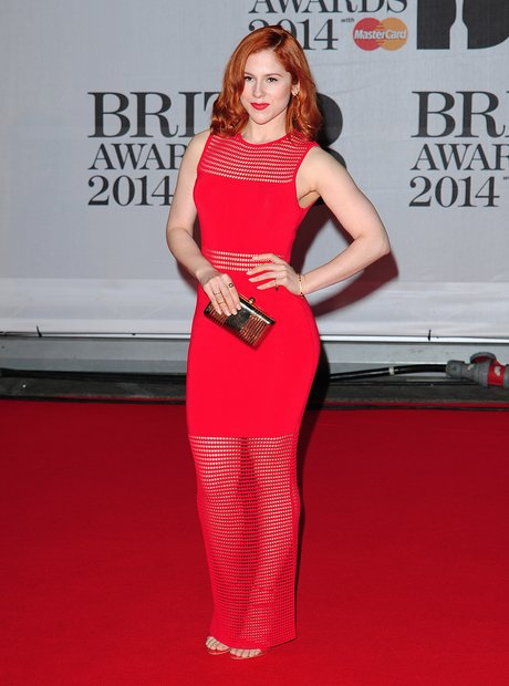 Katy B BRIT Awards 2014 Red Carpet