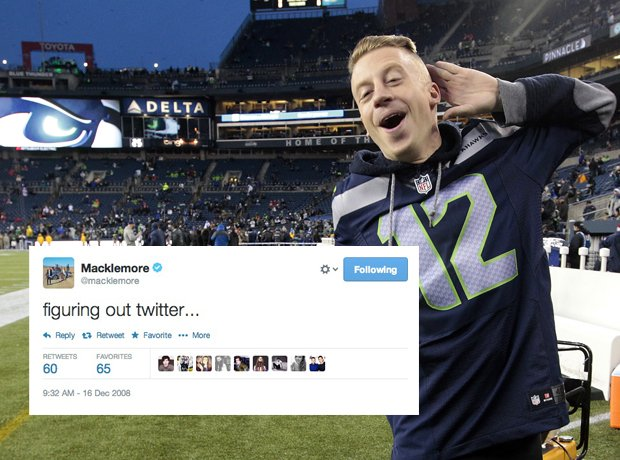 Macklemore first tweet