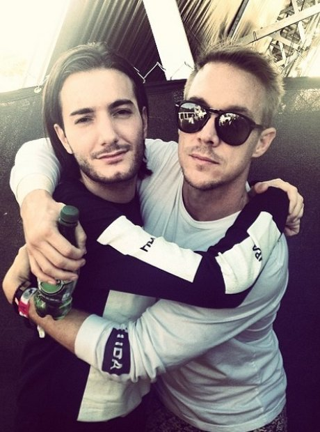 Alesso and Diplo hugging