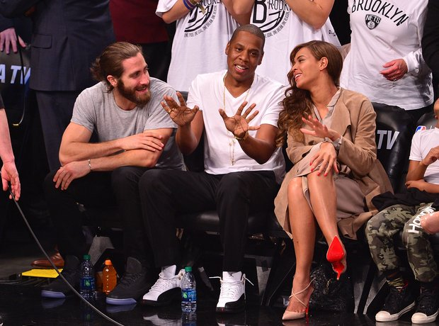 Jake Gyllenhaal, Jay-Z and Beyonce
