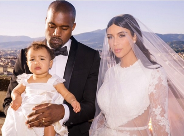 Kanye West Kim Kardashian North West Wedding