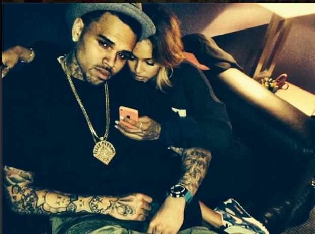 Chris Brown and girlfriend karrueche