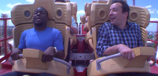 Kevin Hart and Jimmy Fallon Roller Coaster