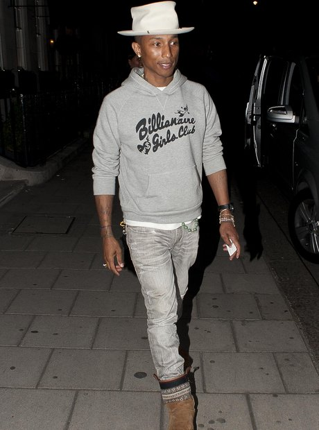 Pharrell out for dinner in London