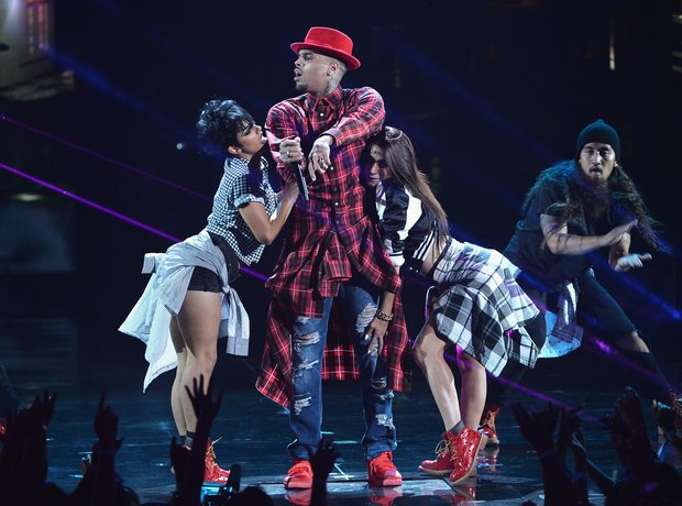 Chris Brown at BET AWards 2014