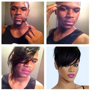 Rihanna make-up transformation