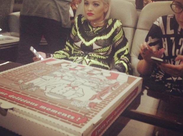 Rita Ora Iggy Azalea Pizza