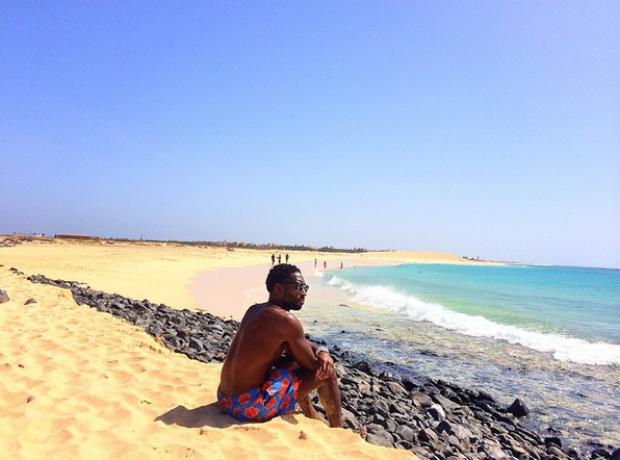 Tinie Tempah beach
