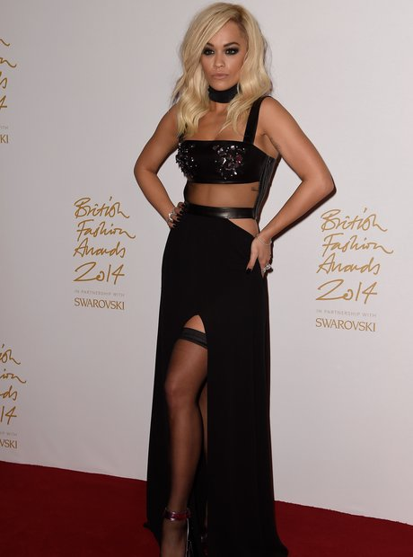Rita Ora British Fashion Awards 2014
