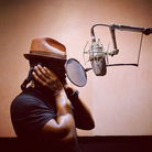Ne Yo in the studio