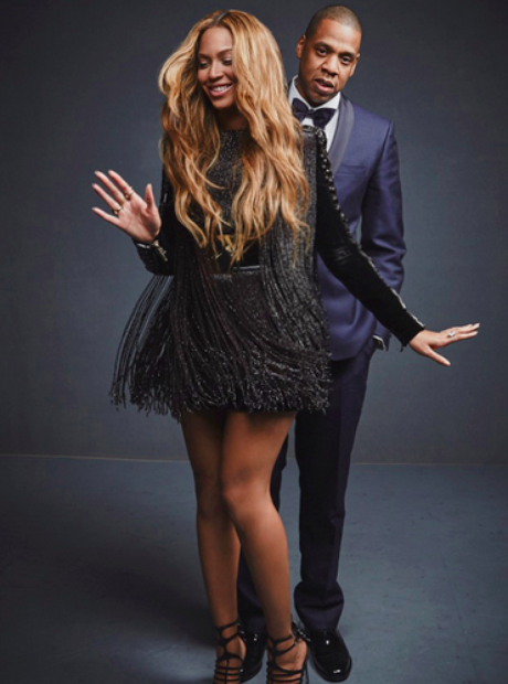 Beyonce and Jay Z 2015 Grammys portrait