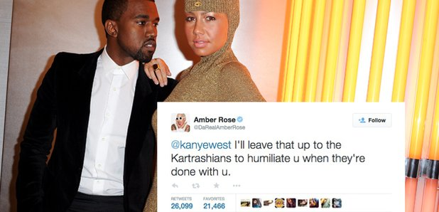 Amber Rose Kanye West Twitter beef