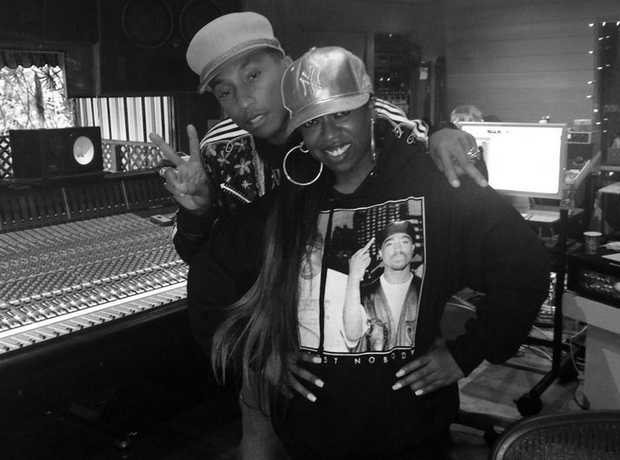 Missy Elliott And Pharrell Recording Studio Instag