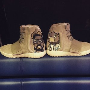 Chris Brown Yeezy Boost