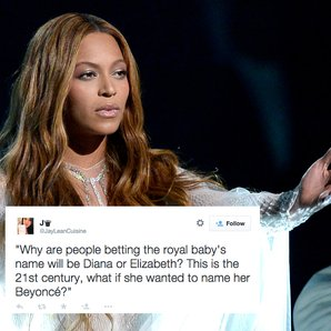 Beyonce royal baby tweets
