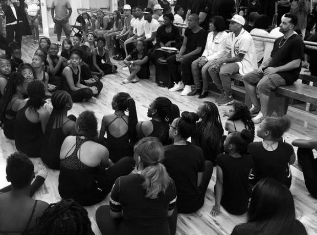 Chris Brown at Dance School