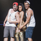 Image 7: Nicki Minaj poses with fans on stage