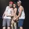 Image 7: Nicki Minaj poses with fans on stage