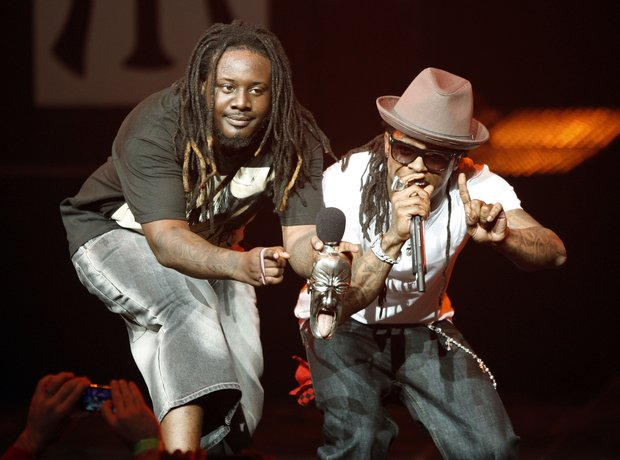 T-Pain stood next to Lil Wayne