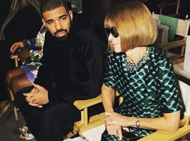 Drake Anna Wintour New York Fashion Week