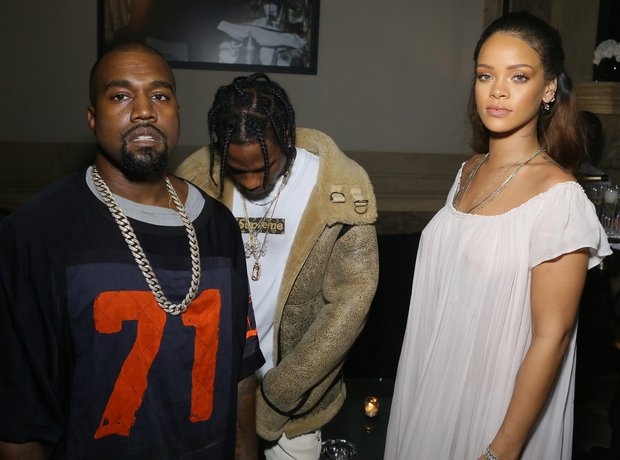 Rihanna Kanye West Travis Scott