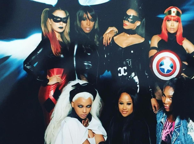 Beyonce, Ciara, Kelly Rowland at Ciara's 30th Birt