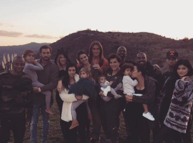 Kanye West Kardashians Thanksgiving