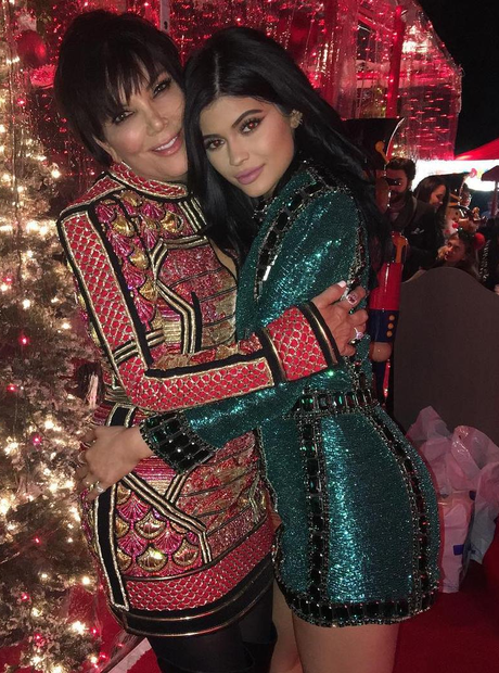 Kylie and Kris Jenner Christmas 2015