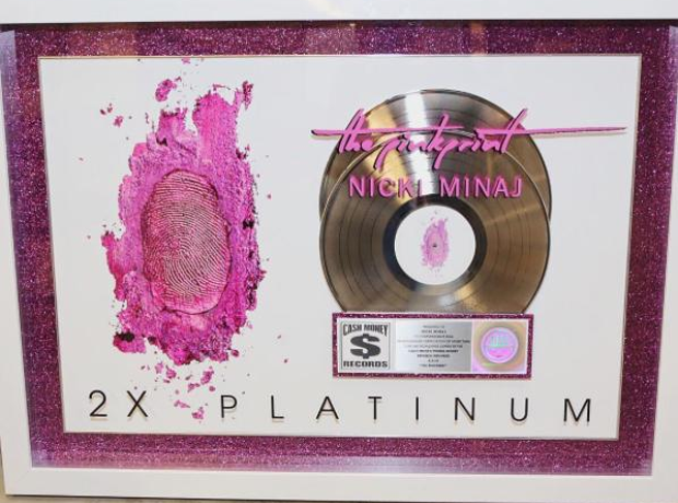 The Pinkprint Double Platinum plaque