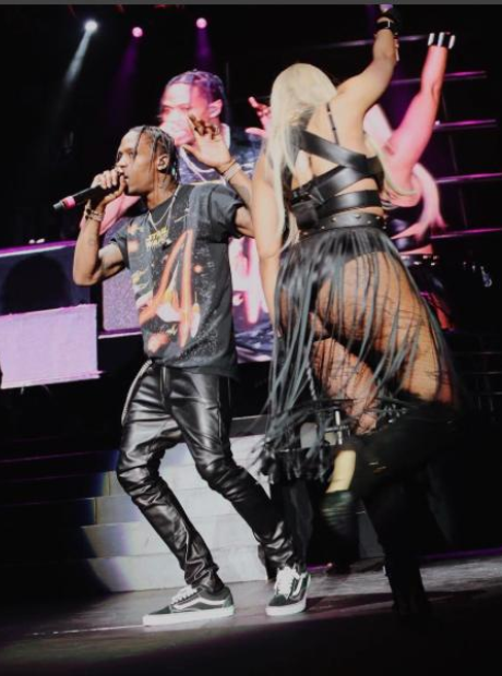 Travis Scott joins Nicki Minaj onstage