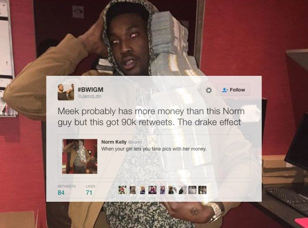 Meek Mill holding money