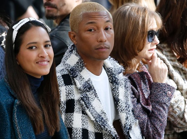 Pharrell Williams FROW during Paris Fashion Week w