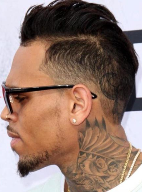 Chris Brown Showed Off His Latest Hairstyle At The Iheart
