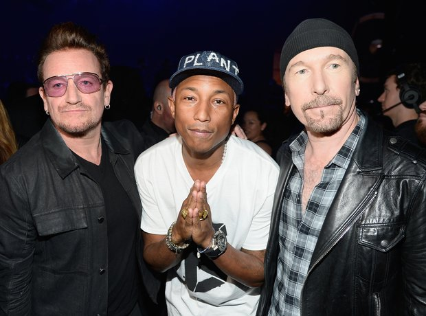 Pharrell Williams with U2