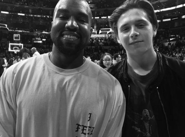 Kanye West and Brooklyn Beckham