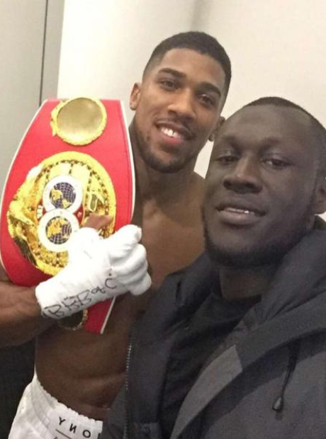 Stormzy with Anthony Joshua