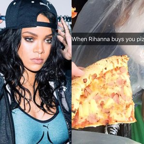 Rihanna Pizza square
