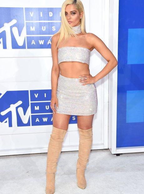 Bebe Rexha MTV VMAs Red Carpet Arrivals 2016