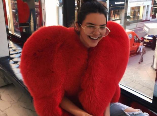 Kendall Jenner Heart Coat