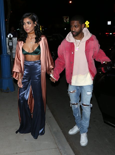 Big Sean and Jhene Aiko arrive at Kendall Jenners
